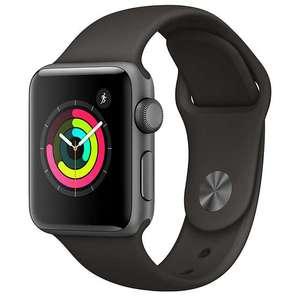 Apple Watch Series 3, GPS, 38mm £299 & 42mm £329 Space Grey Aluminium Case with Sport Band, John Lewis free delivery