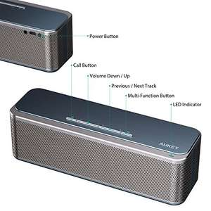 AUKEY Bluetooth Speaker Metal Wireless Bluetooth 4.0 Stereo Speaker with 16W Dual Drivers, HD Audio, Enhanced Bass £23.99 Sold by yueying and Fulfilled by Amazon