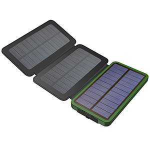 X-DRAGON 10000mAh Solar Battery Charger £14.95 Prime/ £18.94 None Prime - Sold by MYSOLAR and Fulfilled by Amazon.