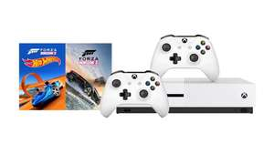 Xbox One S 500GB + Forza Horizon 3 (+ Hot Wheels) + Extra controller £193.90 @ Microsoft Swiss