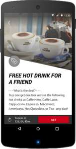 Caffe Nero - BOGOF on hot drinks with Virgin Red app! + you get the stamp still