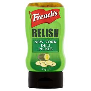French's Relish New York Pickle 315G £1.42 @ tesco