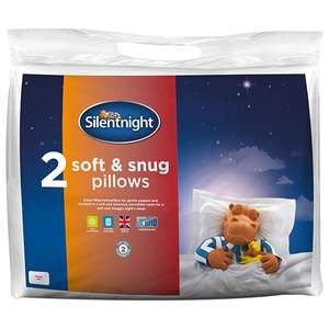 Silentnight Soft & Snug Pillow Pair £5.60 instore at Sainsburys