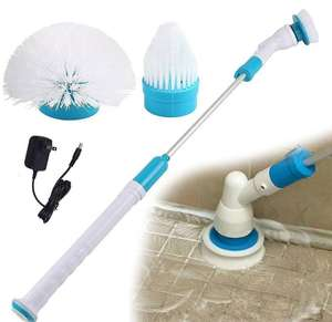 Rechargeable brush mop with 3 replacement heads £21.50 - Banggood