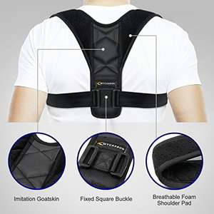 Adjustable posture corrector. £8.99 (Prime) / £12.98 (non Prime) Sold by MYCARBON and Fulfilled by Amazon.