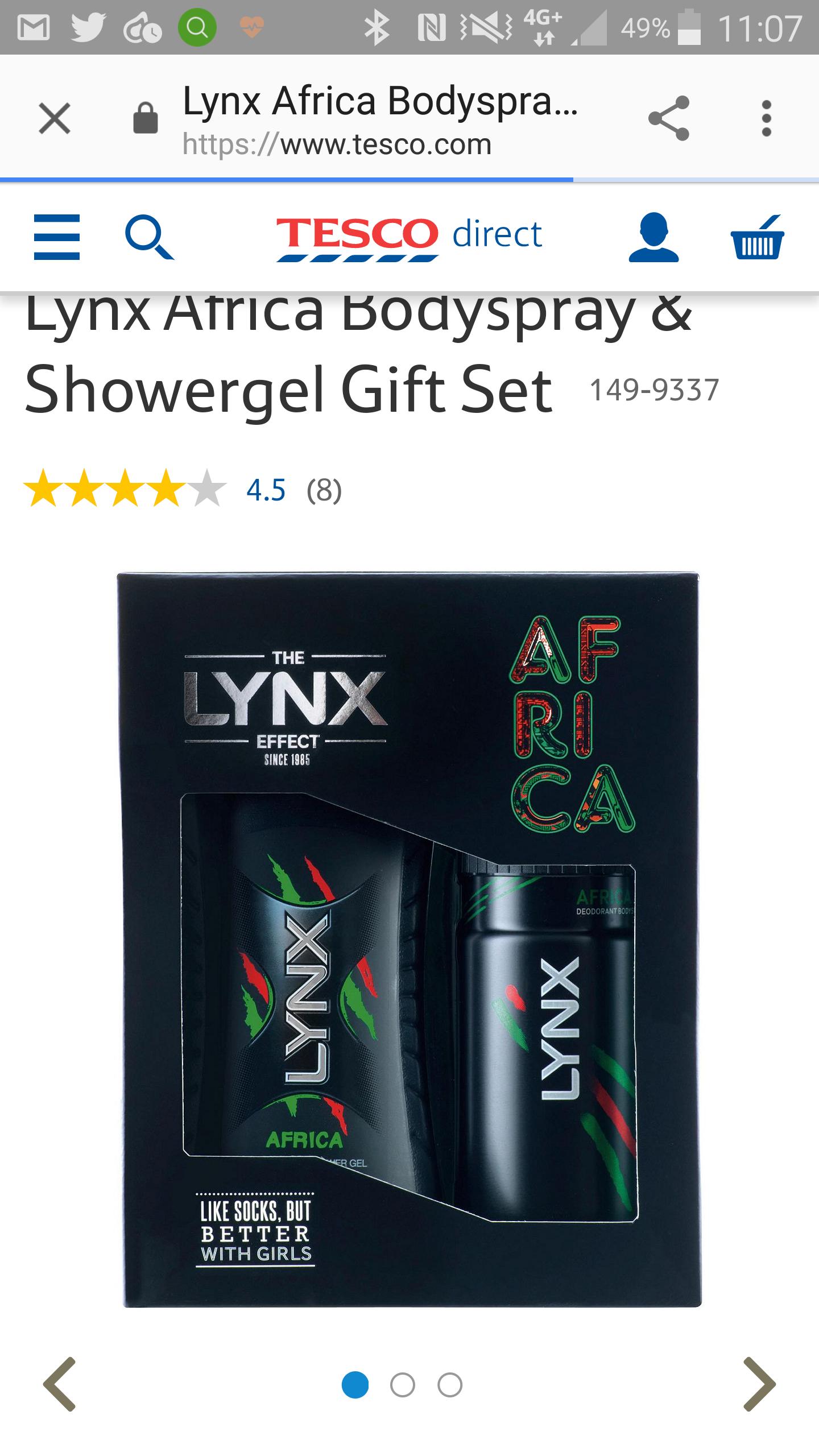 Lynx africa gift pack 65p @ Tesco instore