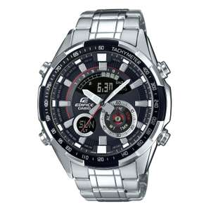 Casio Edifice Men's Stainless Steel Bracelet Watch with Chronograph, World Time, Tachymeter and Alarm £76.50 @ H samuel