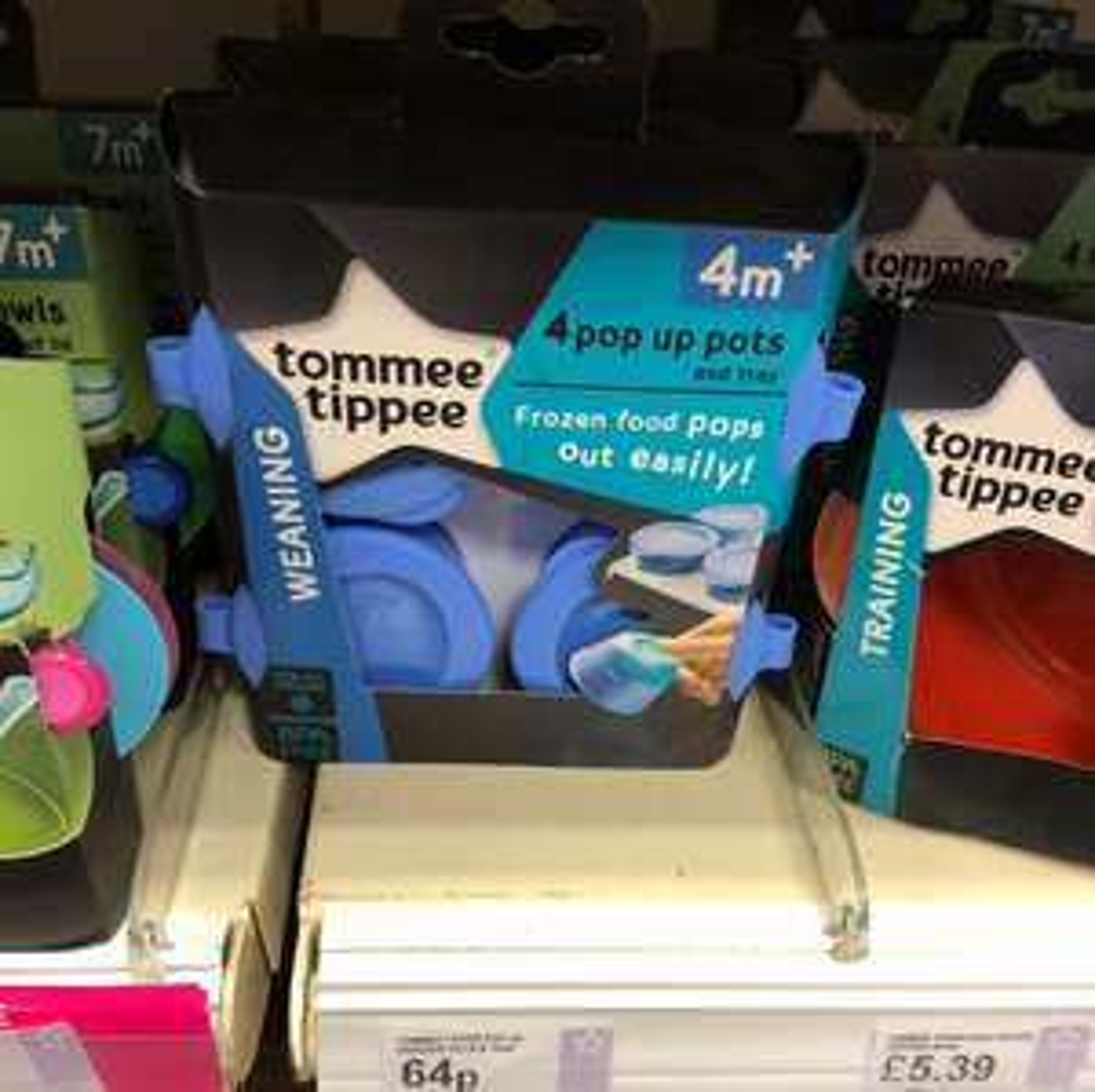 Tommee tippee pop up freezer pots 64p superdrug instore only bexleyheath