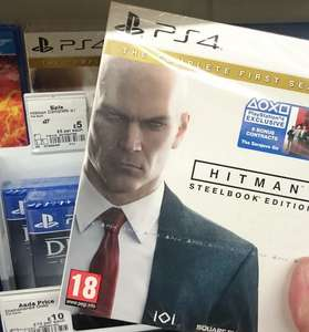 Hitman (PS4) - The Complete First Season - Steelbook Edition - £5 instore @ Asda Weymouth