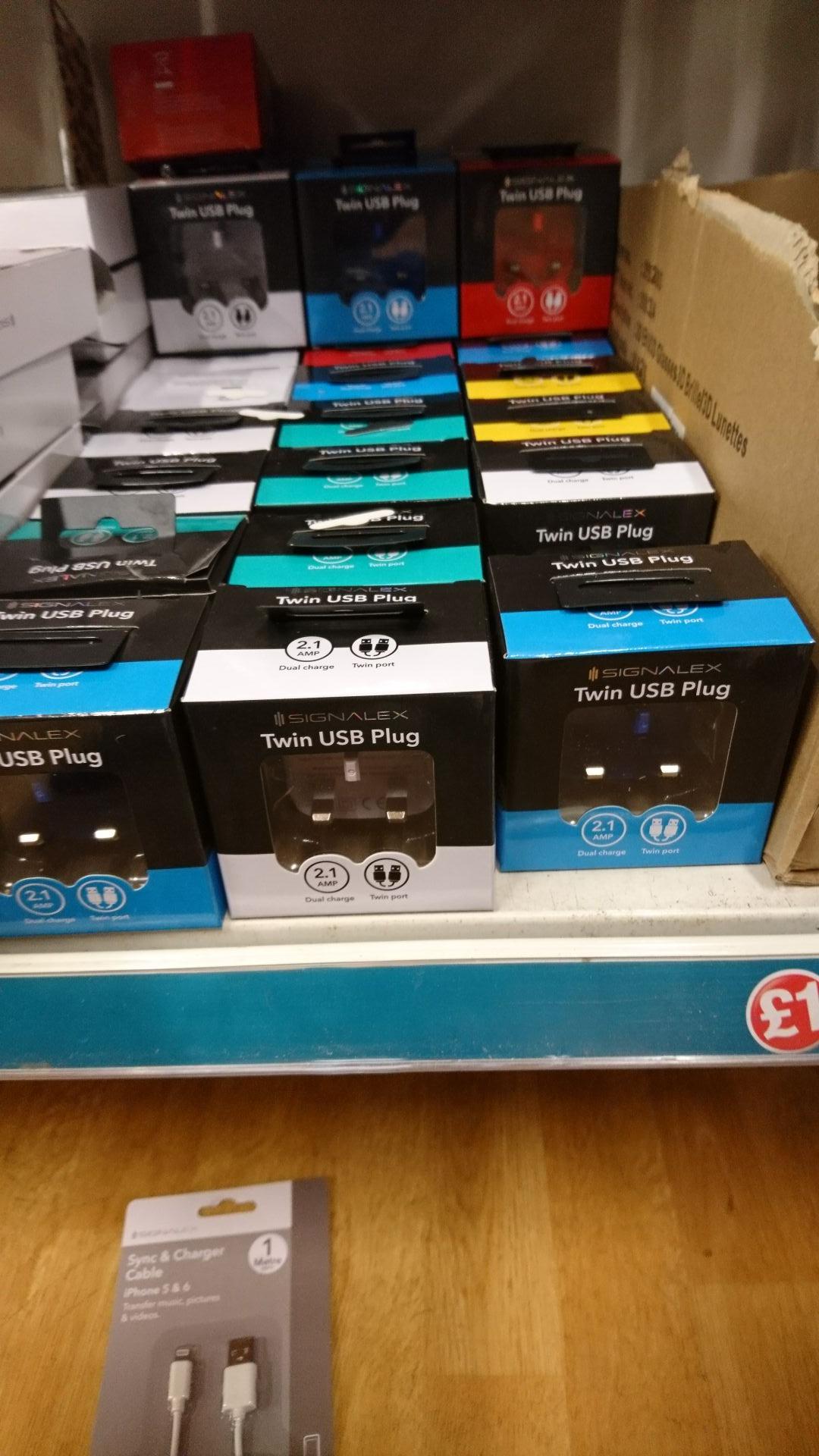Signalex twin USB plug £1 @ poundland