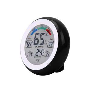 Temperature Humidity Touch Screen Digital Thermometer Hygrometer Black £3.62 @ Gamiss