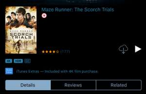 Maze Runner: The Scorch Trials £2.99 @ Itunes