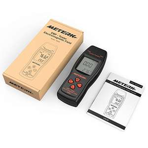 Meterk EMF Meter Handheld Mini Digital LCD EMF Detector Electromagnetic Field Radiation Tester Dosimeter Tester Counter £13.29 prime / £17.28 non prime Sold by ECmall and Fulfilled by Amazon