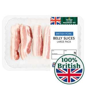Pork belly £2.75 each or 2 for £2.50 in store and online at Morrison's