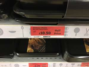 3 Heavy Gauge Large Oven Trays £10.50 @ Sainsbury's -  Luton