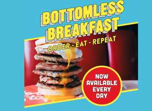 Free Ed's Easy Diner bottomless breakfast for first 50 customers - 24th January