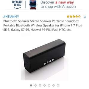 Bluetooth Speaker Stereo Speaker Portable Soundbox Portable Bluetooth Wireless Speaker (Prime / £7.98 non Prime) - Sold by JINTIANMY and Fulfilled by Amazon
