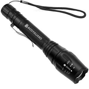 £5.03 only for Bodyguard LED Torch Light, ultra bright 1200 Lumen waterproof torch £7.19 non prime Sold by Bodyguard UK and Fulfilled by Amazon - Lightning deal