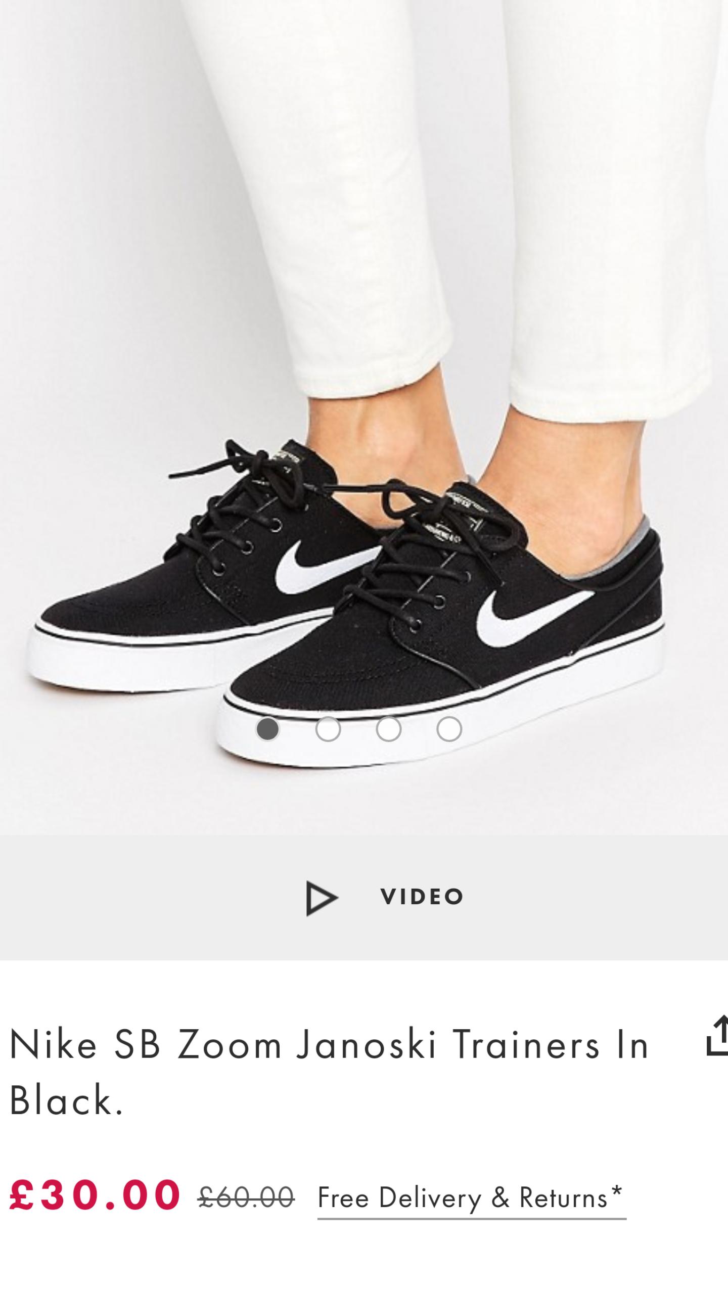 Nike SB Zoom Janoski Trainers In Black - ASOS - £30