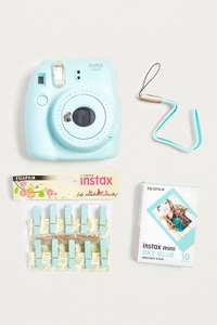 Fujifilm Instax Mini 9 Ice Blue Camera + Accessory Kit £80 @ Urban Outfitters