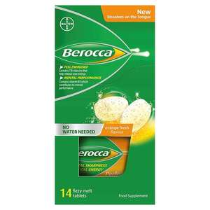 Berocca fizzy melts and sports sachets £2 Morrison's online