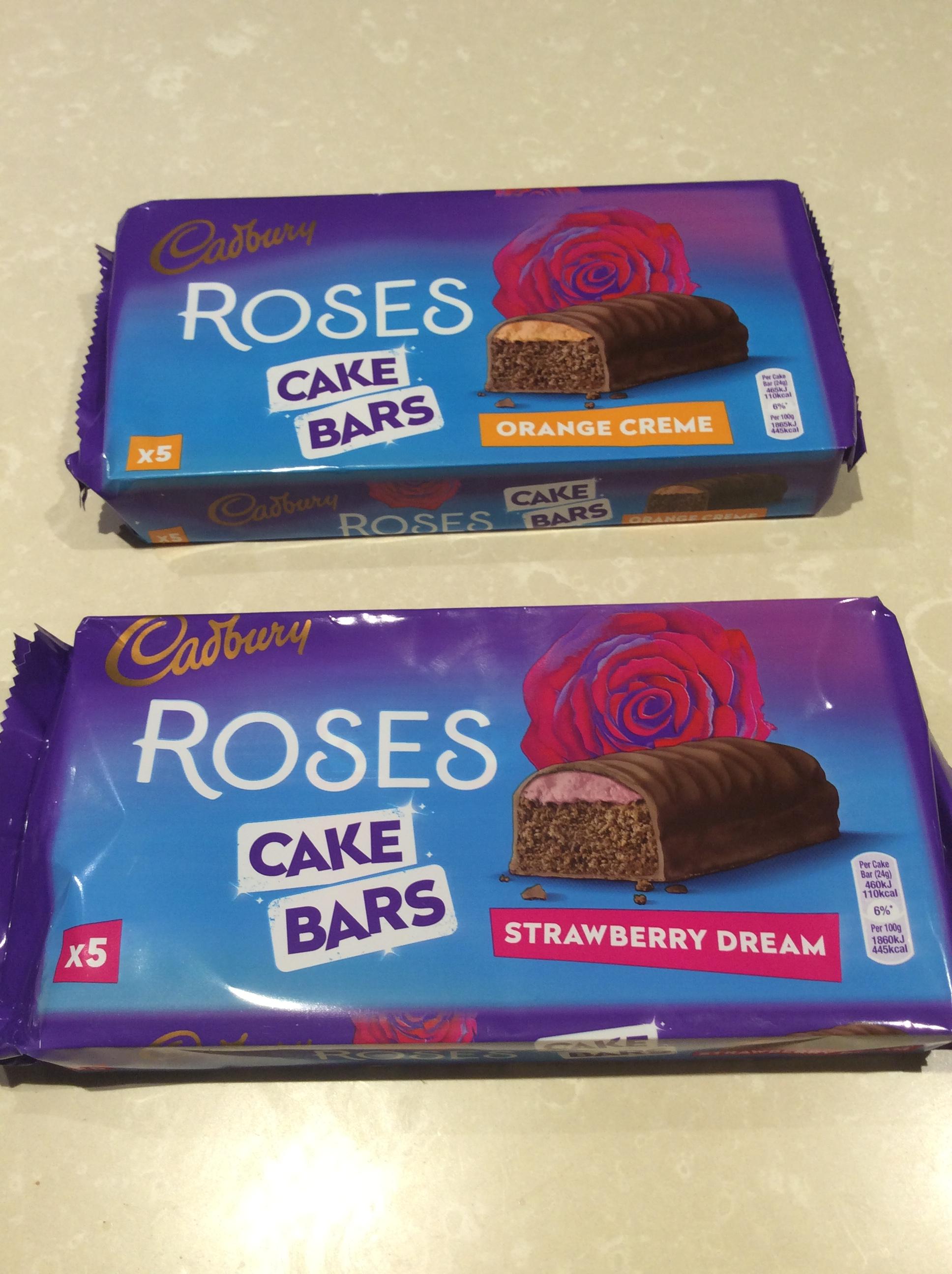 Roses cake bars - 5 bars for 25p - instore @ Tesco Cleethorpes