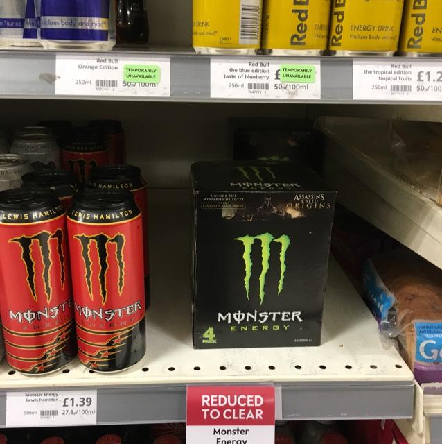 Monster energy - Multipack for £2.79 instore @ Waitrose (London)