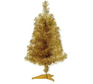 HOME 2ft Tinsel Tree - Gold @ Argos - £1.49 (free c&c)