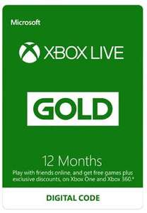 Xbox Live Gold 12 Month Subscription ONLY £31.85@ ElectronicFirst