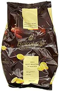 Amazon Belcolade Chocolate White Easi-Melt Buttons 1 Kg (Pack of 2) £8.72 /  £8.28 delivered on S&S @ Amazon