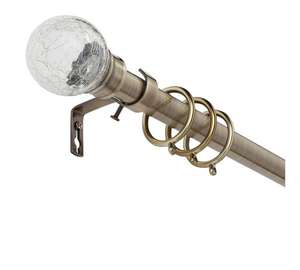 Collection Cora Extend Metal Glass Ball Curtain Pole - Brass or Black or Cream - £8.99 @ Argos (free C&C)