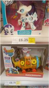 Various toys at Tesco in clearence sale instore