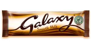 Galaxy Chocolate bar BIG size 390g £2.25 @ Iceland