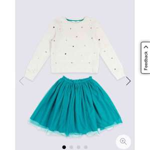 M&S girls 2 piece sweat top and skirt set from ages 3-4 (£3.29) up to age 13-14 (£6.49) free click and collect