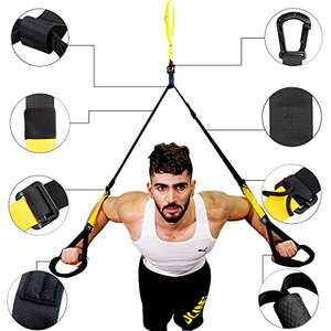 Professional Suspension Trainer, Levin Suspension Training Home Gym Fitness System for Home, Office - £25.49 @ Amazon Lightning Deal - Sold by EurLinkUK and Fulfilled by Amazon