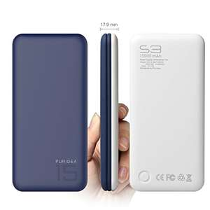 15000 mAh Power Bank, Puridea S3 Series Dual USB Portable Charger External Battery Backup Pack £12.99 (Prime) / £16.98 (non Prime) Sold by Coooss and Fulfilled by Amazon.
