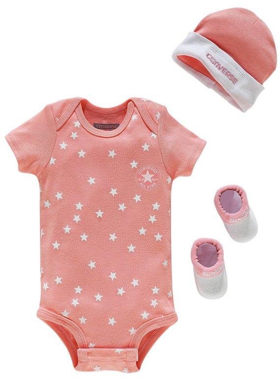 Converse 3 piece daybreak girls pink gift set 0-6 months,was £19.99 NOW £7.99 @ Argos ,free c+c