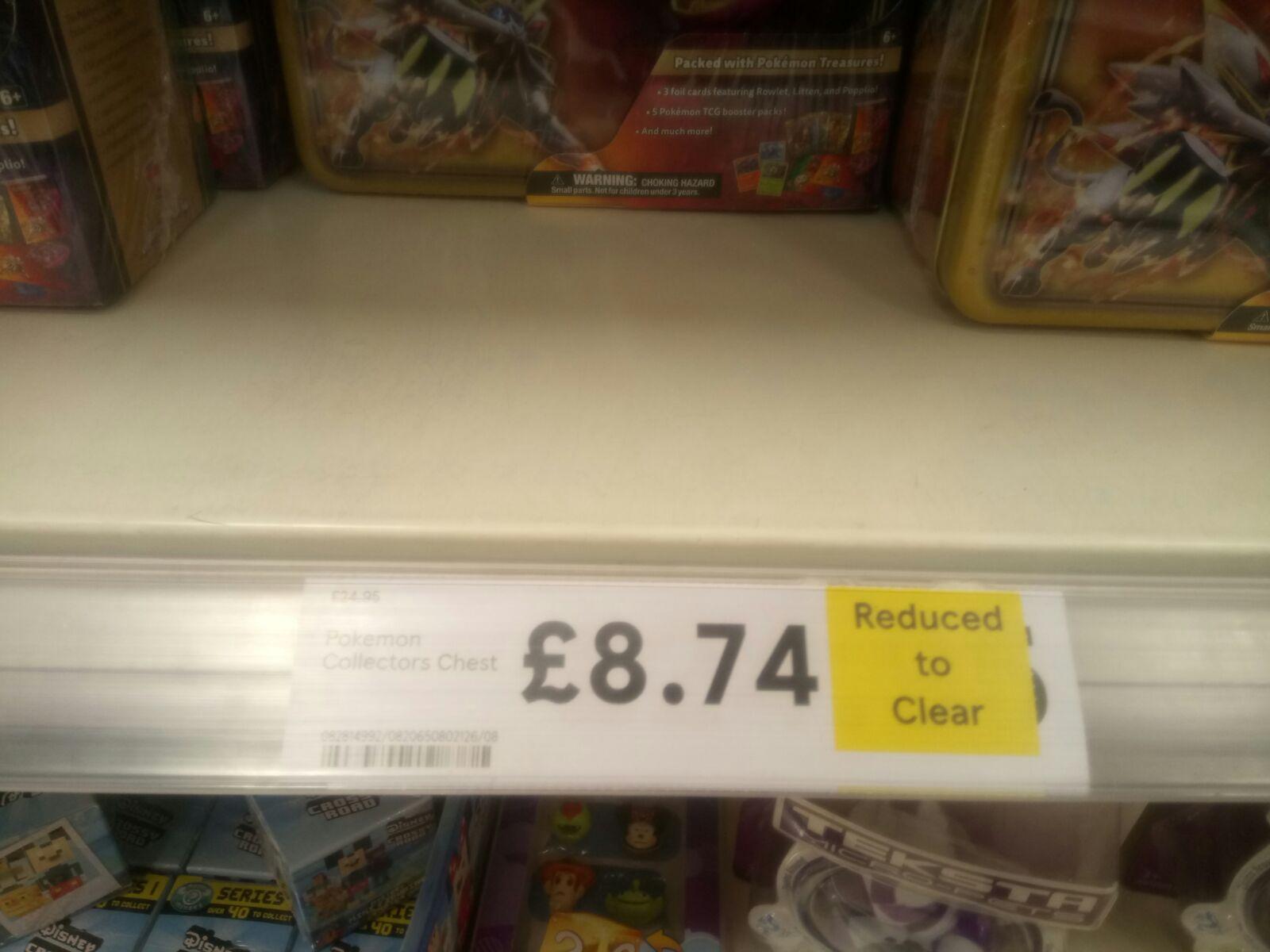 Pokemon Trading Card Treasure Chest £8.74 @  Tesco Instore