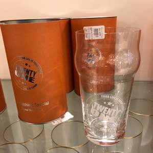 Crystal Pint Glass (21) £2  John Lewis - Liverpool