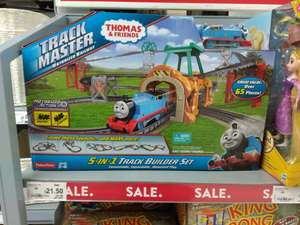 Asda Instore Fisher Price Thomas and Friends Trackmaster 5-in-1 Motorised Railway Track Builder Set £21.50