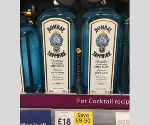 Bombay Sapphire 1L - £18 instore @ Tesco (Bletchley) and online