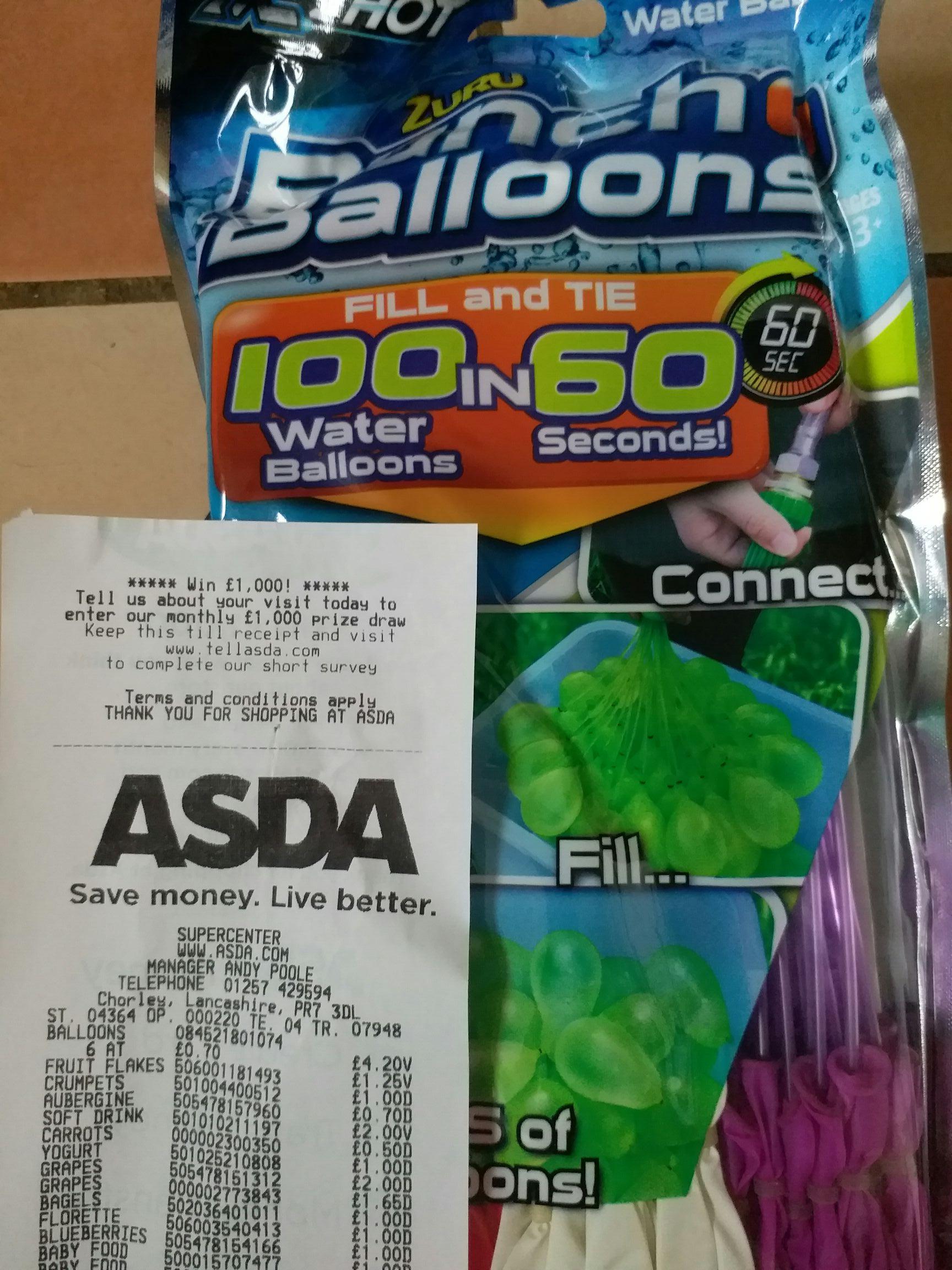 Zuru bunch balloons 70p @ Asda - instore