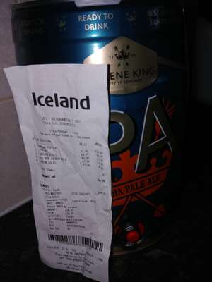 Greene King IPA Mini Keg 5 Litres £6.75 In-store @ Iceland