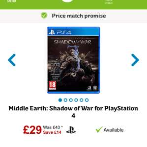 Middle Earth Shadow of War PS4 £29 @ AO