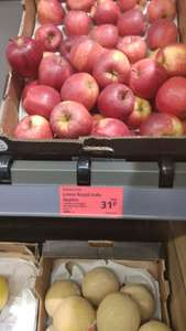 Aldi super deal Instore Royal gala apples 31p each