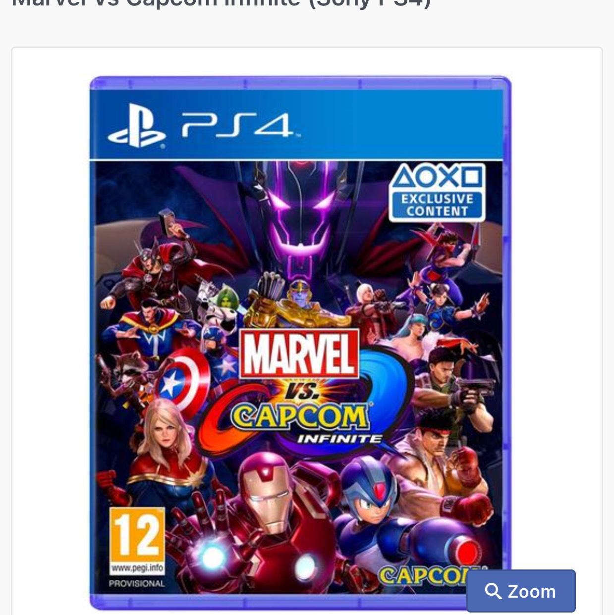 Marvel vs Capcom Infinite PS4 £15.99 @ Mymemory