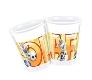 Disney 200ml Disney Frozen Plastic Cups,Pack of 8 featuring Summer Olaf, sold by Amazon back in stock 16p - Add on item