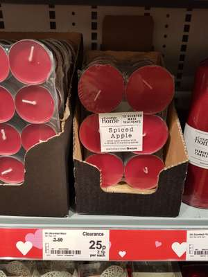 12 spiced apple maxi tealights 25p @ Asda living - lincoln