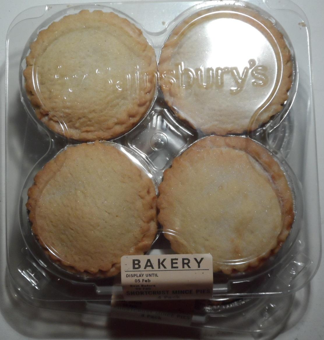 4 Bakery Shortcrust Mince Pies 10p @ Sainsbury's Aberdeen Berryden