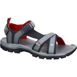 QUECHUA Men's Arpenaz 100 Hiking Sandals - Red Grey for £4.99 @ Decathlon - Free c&c